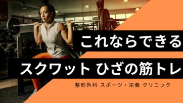 最新 これならできる スクワット トレーニング 膝の筋肉編