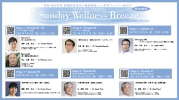 【イベント情報】当院理事長 武田Dr.がSunday Wellness Breeze Season8 ~Summer version~にて講演致します。